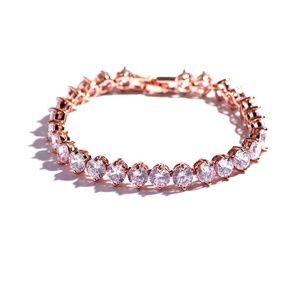 Jewelry - Cubic Zironia Chain Tennis Bracelet 3 Colors
